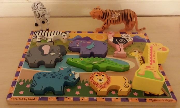 zoo animal matching game