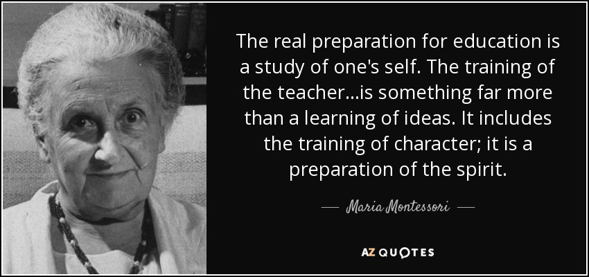 Character Quote Teacher Montessori